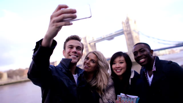 students taking a selfie - group of objects stock videos & royalty-free footage