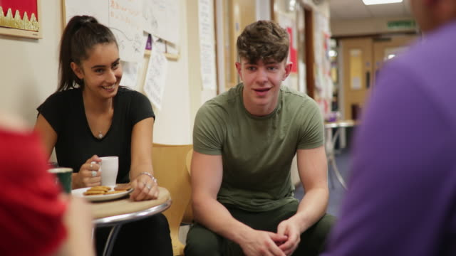 students talking to teacher - youth club stock videos & royalty-free footage