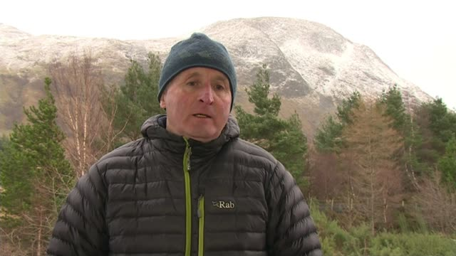 students trapped in blizzard on ben nevis after attempting climb in trainers scotland lochaber ext miller harris interview sot - mountain range stock videos & royalty-free footage