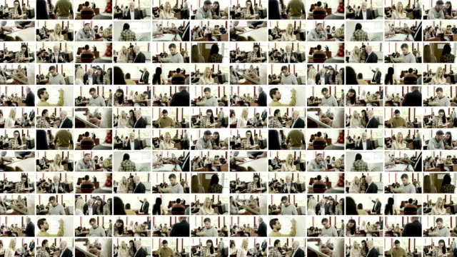 Studenten. Video Wand.