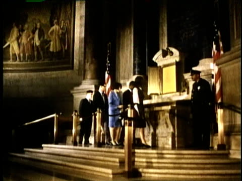 1967 montage students viewing the us constitution / united states / audio - constitution stock videos & royalty-free footage