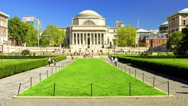t/l students walking on the campus of columbia university / new york city, new york - university stock videos & royalty-free footage