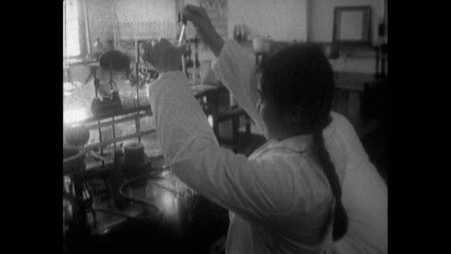 students working in chinese university chemistry lab; 1964 - chemistry stock videos & royalty-free footage
