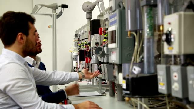 students working in laboratory of renewable energy. - renewable energy stock videos & royalty-free footage