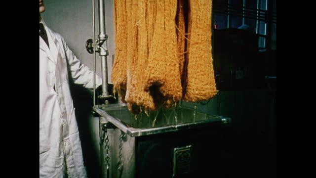 montage students working with textile machines in scotland / united kingdom - teknisk högskola bildbanksvideor och videomaterial från bakom kulisserna