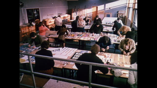 montage students working with textiles in scotland / united kingdom - teknisk högskola bildbanksvideor och videomaterial från bakom kulisserna