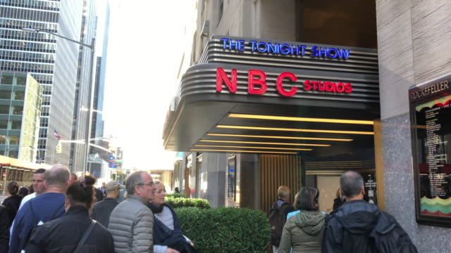 nbc studio in new york city - nbc stock videos & royalty-free footage