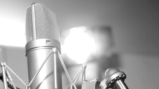 studio microphone - microphone stock videos & royalty-free footage