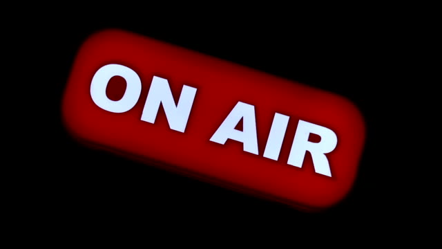 studio on air sign, tv & radio station live light - on air sign stock videos & royalty-free footage