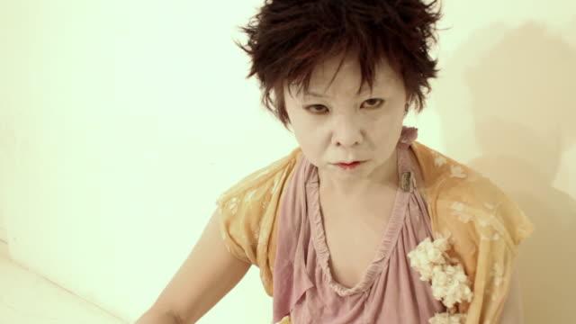 MS ZI Studio portrait of Japanese Butoh Dancer / New York City, New York, USA