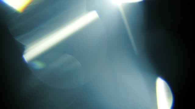 studio shot light leaks und lens flares - kristalle stock-videos und b-roll-filmmaterial