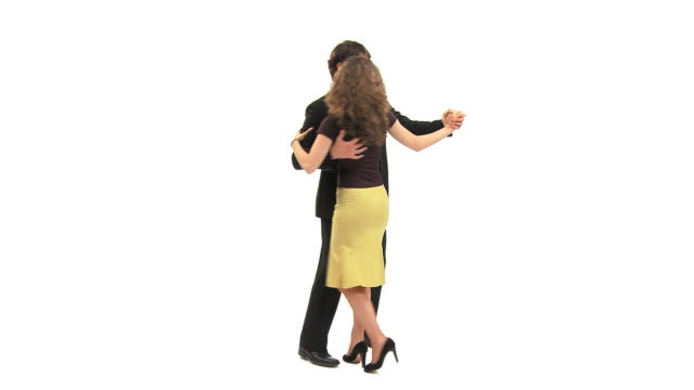 ms studio shot of couple dancing, vrhnika, slovenia - vrhnika stock videos and b-roll footage