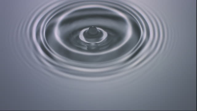 slo mo cu ha studio shot of drop falling into water - concentric stock videos & royalty-free footage