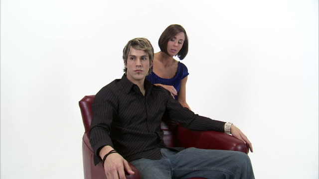 ms zi cu studio shot of unhappy young couple / orem, utah, usa - oblivious stock videos & royalty-free footage