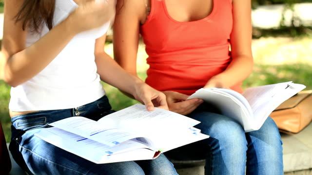 Akademisches Lernen zusammen im Freien