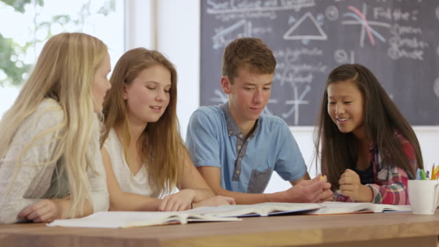 て勉強する - 分校点の映像素材/bロール