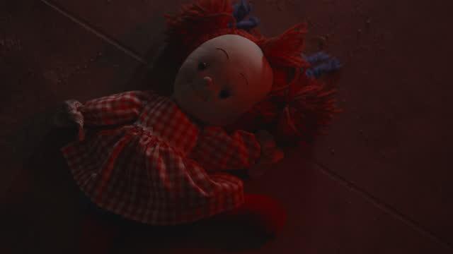 stuffed doll on floor illuminated by flashing police lights at night / cedar hills, utah, united states - lying on back stock videos & royalty-free footage