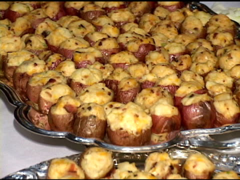 stuffed potatoes - sour cream stock videos and b-roll footage