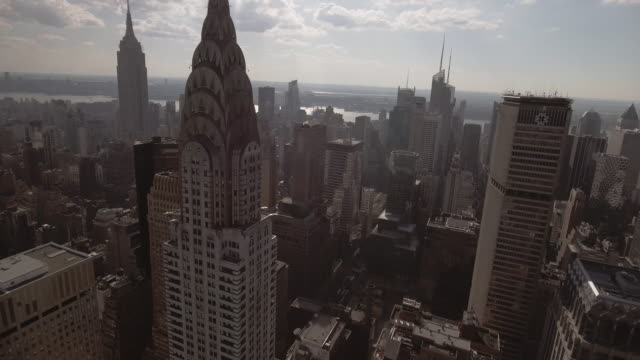 Stunning Aerial view of Manhattan New York City
