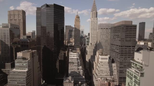 stunning aerial view of manhattan new york city - midtown manhattan stock videos & royalty-free footage