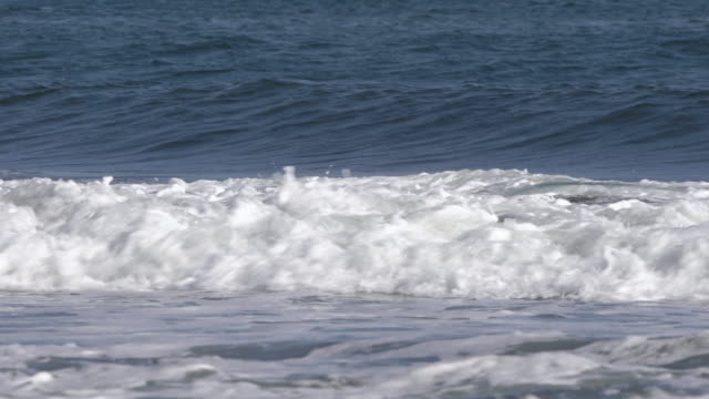 stunning blue spraying waves of pacific ocean. beautiful seaside background at stormy weather - pacific coast stock videos & royalty-free footage