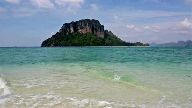 stunning island in krabi, south thailand - view into land stock videos & royalty-free footage