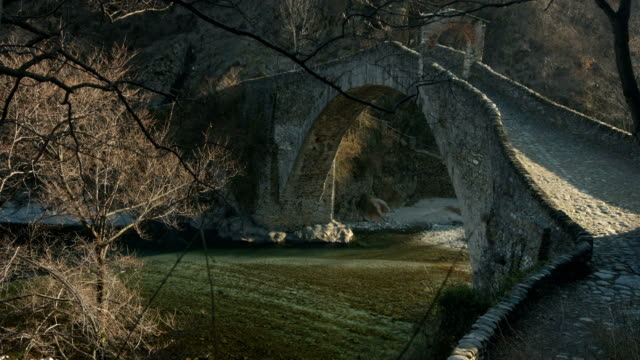 Stunning medieval arched stone bridge
