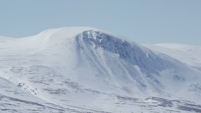 stunning mountain landscape in norway covered in snow - hill stock videos & royalty-free footage