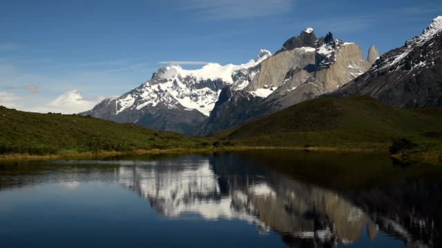 stunning torres del paine, chile - patagonia chile stock videos and b-roll footage