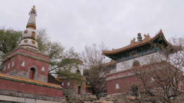 stupa in summer palace, beijing longevity hill a - stupa stock videos & royalty-free footage