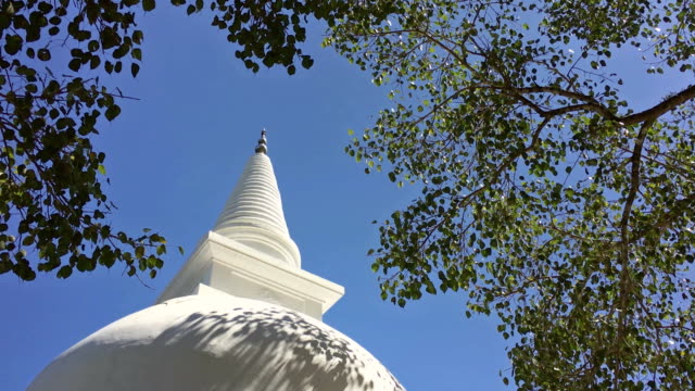 stupa of lankatilaka vihara buddhist temple in sri lanka - sri lanka stock videos and b-roll footage