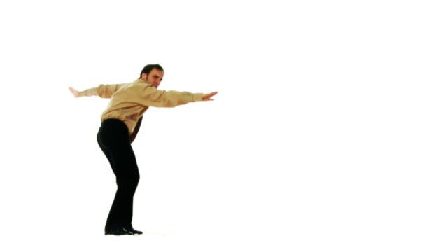 vídeos de stock e filmes b-roll de estúpidos dança loop empresário - negativo tipo de imagem