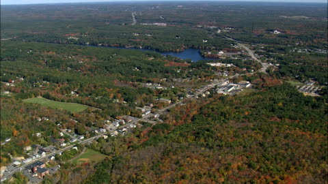 sturbridge  - aerial view - massachusetts,  worcester county,  united states - massachusetts stock videos & royalty-free footage