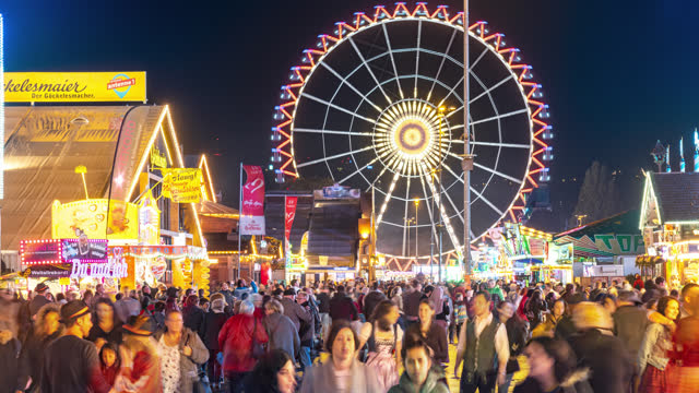 stuttgart germany timelapse festival - traditional festival stock videos & royalty-free footage