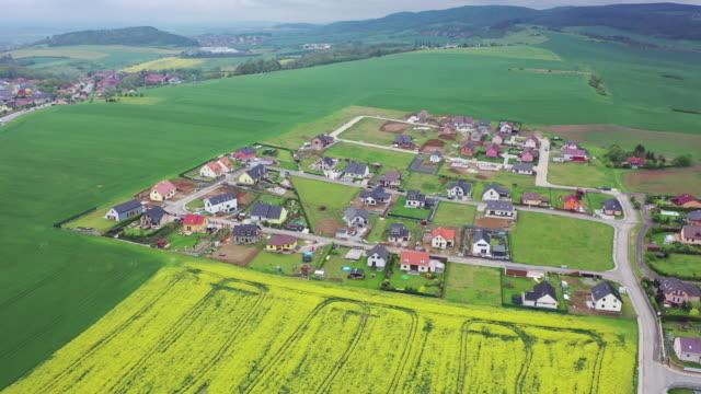 stuttgart village and oilseed rape field scenery / germany - grounds stock videos & royalty-free footage