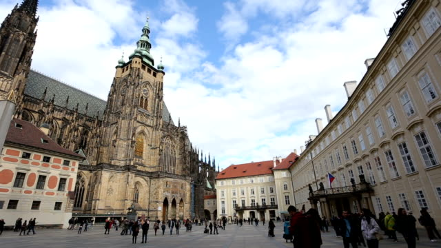 st.vitus cathedral in prague - hradcany castle stock videos and b-roll footage