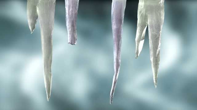 stylised icicles on wintery sky with luma matte 1 - icicle stock videos and b-roll footage