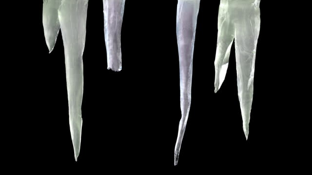 stylised icicles with luma matte 2 - dagger stock videos & royalty-free footage