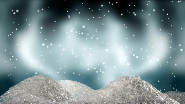 stylised miniature snowdrifts rising up scene 3 - snow chroma key stock videos & royalty-free footage