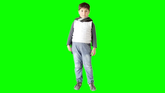 stylish baby in waistcoat and scarf posing - silhouette stock videos & royalty-free footage