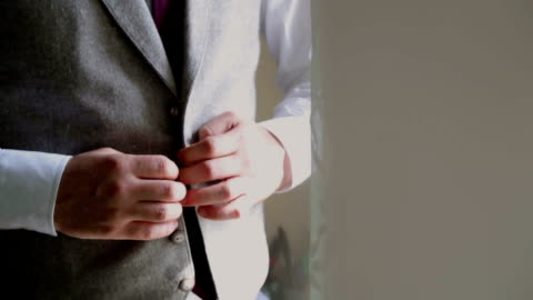 stylish man dressing - button down shirt stock videos & royalty-free footage