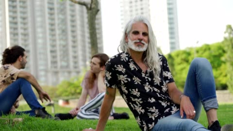 stylish mature man - grey hair stock videos & royalty-free footage
