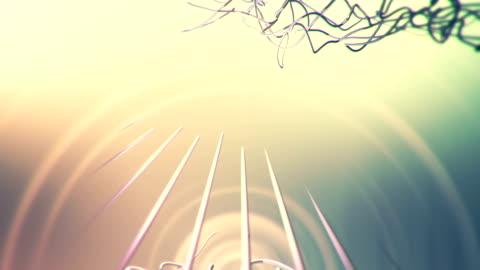 vídeos y material grabado en eventos de stock de elegante fondo lazo de cuerda de las partículas - cordel