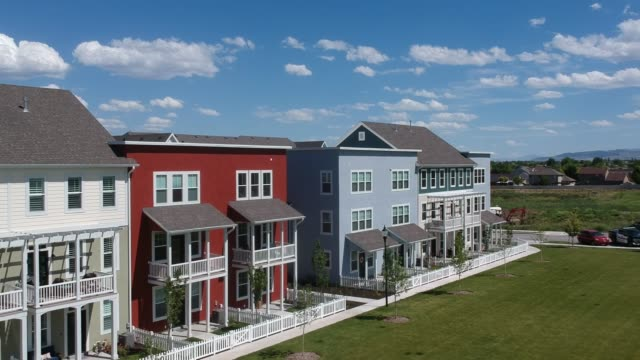 stylish townhomes - townhouse stock videos & royalty-free footage