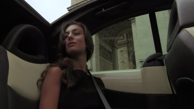 stylish young women in back seat of car, daytime - passenger seat stock videos & royalty-free footage