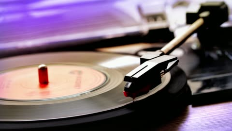 stylus and 45rpm single record. - single object stock videos & royalty-free footage
