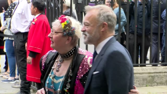 su pollard graham norton at westminster abbey on june 07 2017 in london england - graham norton comedian stock videos & royalty-free footage