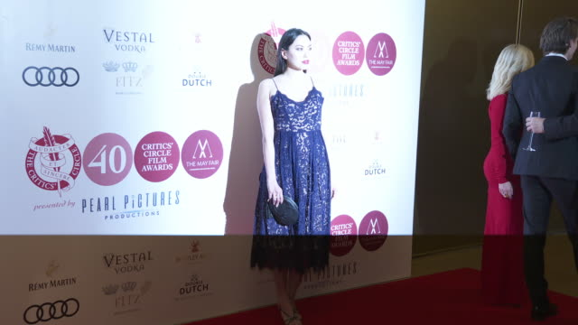suan-li ong at the london critics' circle film awards at the may fair hotel on january 30, 2020 in london, england. - arts culture and entertainment stock videos & royalty-free footage