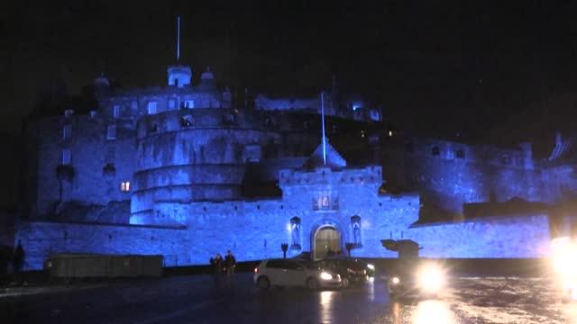 GBR: Subdued New Year's Eve celebration at Edinburgh Castle