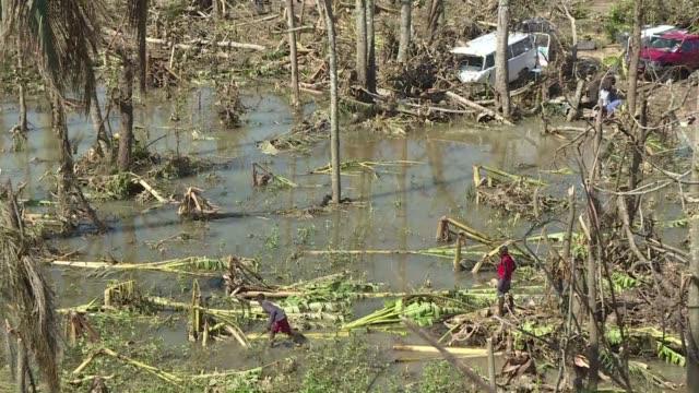 subio a 336 el balance oficial de muertos por el huracan matthew - meteoro stock videos & royalty-free footage
